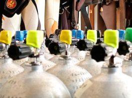 scuba tanks storred