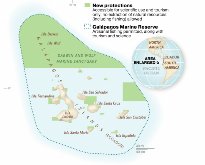 galapagos marine sanctuary map