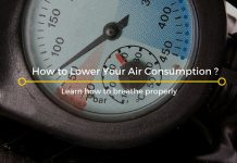 lower air consumption
