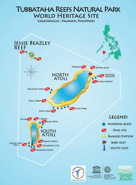 tubbataha dive site map